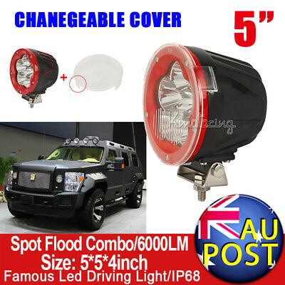 """5inch 120W CREE Spot Flood Beam LED Driving Light With Mask 4x4 4WD SUV Jeep 9"""""""