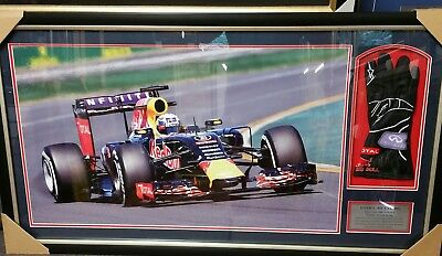 Daniel Ricciardo  Hand Signed And Framed Redbull Race Glove