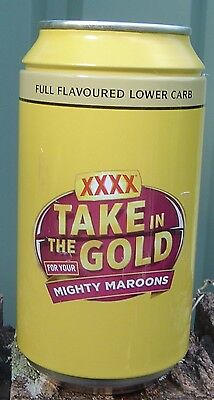XXXX Gold Queenslander Towel, Sticker & Can That Contains Towel Limited Edition