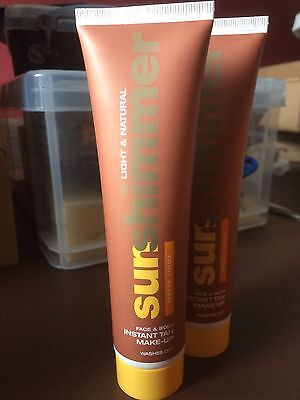 2 X Rimmel Sunshimmer Instant Tan 100ml