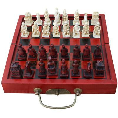 1 Set Antique Chinese Chess Wooden Table Miniature Chess Board Chess Pieces