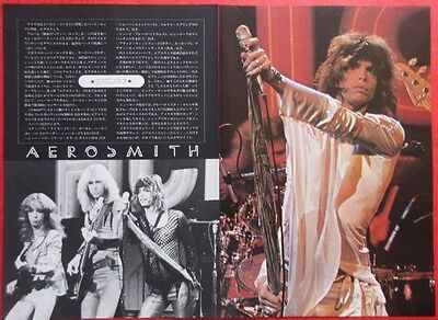 Aerosmith Steven Tyler 1975 Clipping Japan Magazine Cutting Gt Ri 2Page