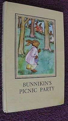 ladybird book, 1952 Edition. Bunnikin's Picnic Party, Series 401