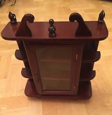 Antique Victorian Mahogany  Glazed Cabinet. Free-Standing or Wall-Mount