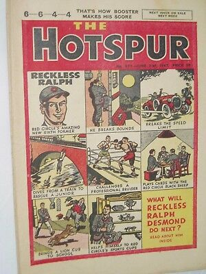 THE HOTSPUR  COMIC......VINTAGE ISSUE.......21st June 1947