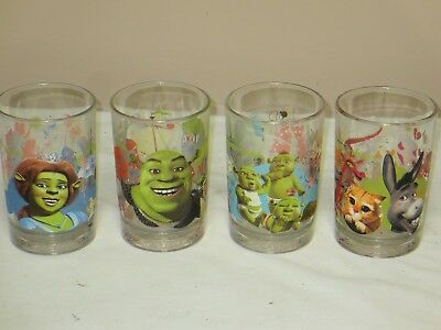 4 Shrek The Third Limited Edition McDonald's Collectible Glasses 2007