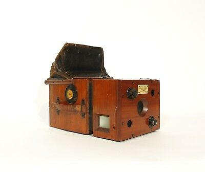 1893 Huttig Tropical Detective Camera w/Plate Holders, Pulls & Working Shutter