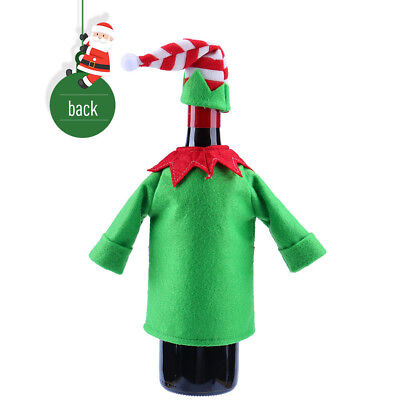 1Set Wine Hold Bottle Cover Decoration Home Party Christmas Elf Wine Bag
