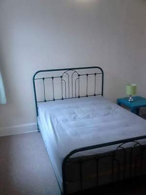 """Beautiful Art Deco Genuine Antique bedstead and base. Standard Double Bed 4'-6"""""""