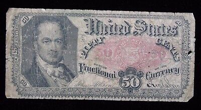 1875 Fifth Issue US Fractional Currency 50 Cent Note * US Paper Money *