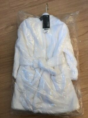 Brand New White Fluffy Dressing Gown Age 1-2