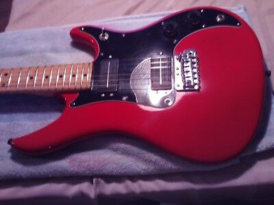 80's vintage red  peavey patriot guitar