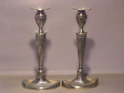 Rare Antique Circa 1904 Georgian Styled Hawksworth Eyre Co Sterling Candlesticks