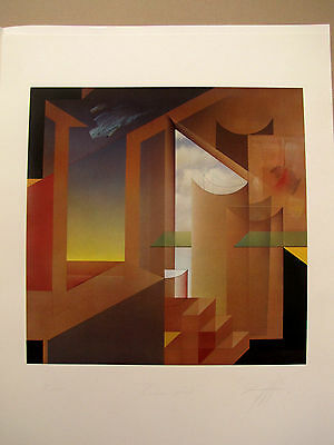 """Peter Foeller Screen Printing """" raumspiel """" Numbered May refer to , AUTOGRAPHED"""