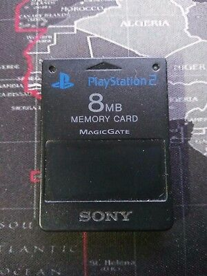 8Mb Ps2 Genuine Black Sony Magicgate Memory Card Playstation Play Station 2