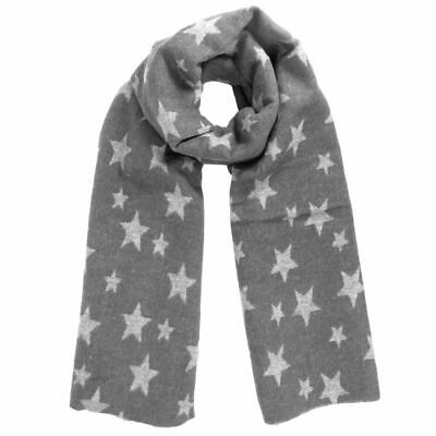 Scarf Ladies Cotton Wool Acrylic Stars Pattern MANY COLOURS