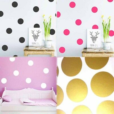 Bedroom Decal Circular Dot Decal Multicolor Art Wall Sticker Home Decor Bedroom