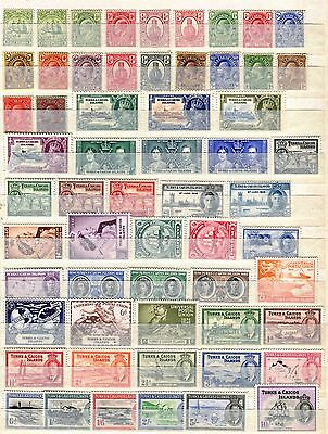 Turks & Caicos 1900 – 1950 ***** 59 Stamps ***** 48 Mint