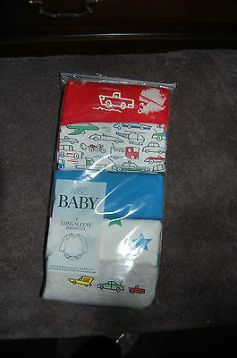 5 Long Sleeved Bodysuits Transportation Themed SizeNewborn Marks & Spencer BNIP