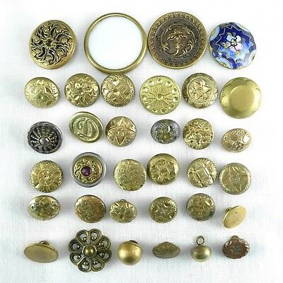 Mixed Lot Antique Victorian Metal Buttons Lot 1