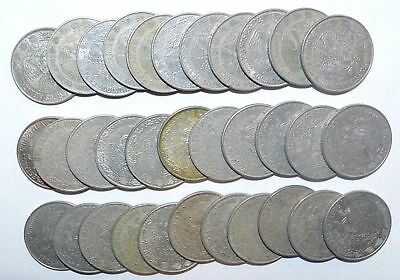 MEXICO lot UN PESO vintage  large 30 COINS  wholesale ..