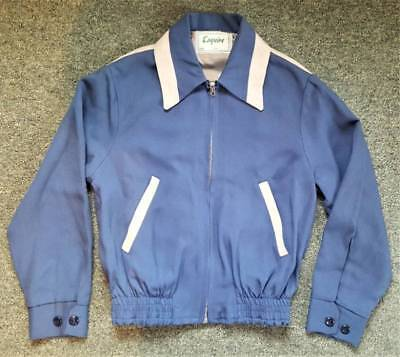 ESQUIRE Vtg 1950s BOYS Rockabilly Atomic Era Jacket Gabardine Two Tone NOS 10