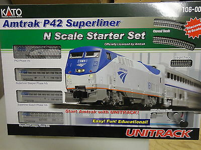 KATO 106-0017 N AMTRAK P42 SUPERLINER STARTER SET (options) add-on SET A 4 car