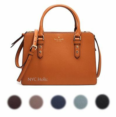 b3abe534e1 New Kate Spade New York Lise Mulberry Street Satchel Crossbody Pebble  Leather