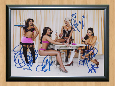 Mickie James Melina Ashley Maria WWE Signed Autographed A4 Poster Memorabilia