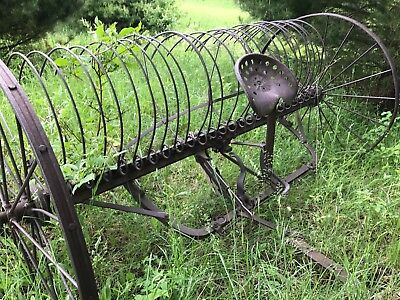 "Old horse/tractor drawn ""Hay Rake"" Farm Equipment; Antique; vintage."