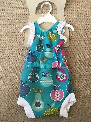 New Happy Nappy Swimming Costume, SPF 50+, Tutti Fruiti Print- Large 6-14 Months