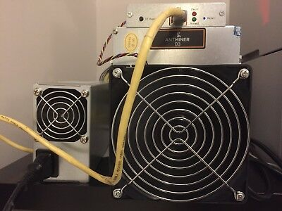 Antminer D3 In hand with APW3++ with faulty board