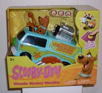 Scooby Doo Wheelie Mystery Machine with Sound Lights Motion New in Box Nikok