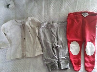 0000 Newborn bundle - Organic Cotton - Purebaby & Gaia - 1 x Jacket & 2 x Pants