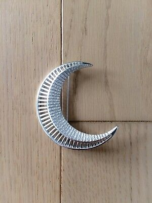 Vintage 1960s Sarah Coventry Silver Moon Brooch