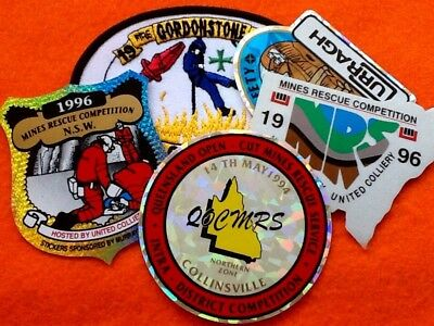 MINING Stickers & BADGE (5) Open Cut Rescue Emergency Crew ... FREE POST