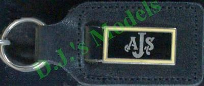 A.J.S. Keyring Key Ring - badge mounted on a leather fob