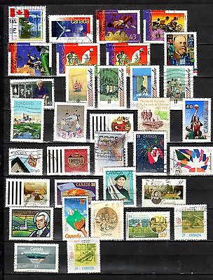 Canada Stamps Used, Commemoratives + Xmas, 1988/95 (34) Exc. Cond