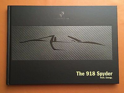 NEW Carbon Fiber Cover Porsche 918 Spyder Showroom Brochure HardCover