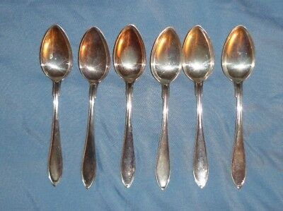 Vintage Set Of 6 Coin Silver Spoons Weighs 90 GRAMS Maker's Mark C.G.H