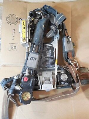 Clean used Scott 4.5 Air-Pak Back Pack Assembly loaded with accessories SEE PICS