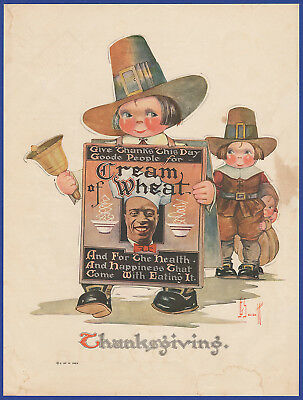 Vintage 1923 CREAM OF WHEAT Thanksgiving Holiday J. G. Scott Art Print Ad 20's