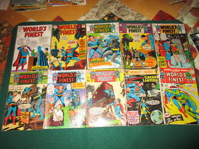 DC World's Finest Lot of 10 Silver Age comics lower grade