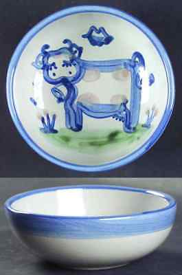 M A Hadley COUNTRY SCENE BLUE Cow Cereal Bowl 5757499
