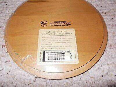 Longaberger Shelf-Wrought Iron Plate-WB - New With Tag -