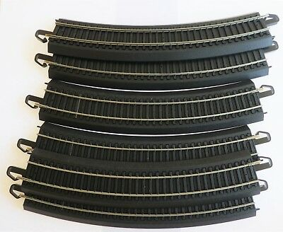 Curved Track X 6  Curved, Black, Used, Near New, Bachmann E-Z System