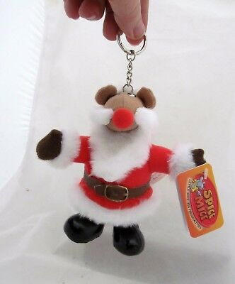 Spice Mice Santa Claws Mouse Figure Plush Doll Toy Keychain Christmas Ornament