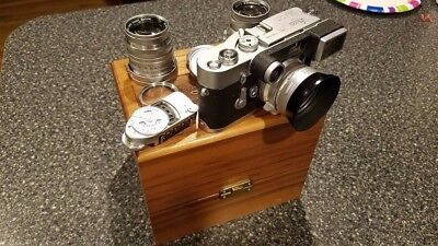 Leica M3 with 3 Lenses & Light meter, and special designed Leica wooden box