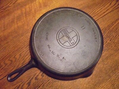 Vintage Griswold No. 11 Cast Iron Skillet Large Block With Heat Ring 717 A