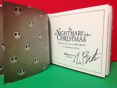 The Nightmare Before Christmas Book Signed By Tim Burton- Anniversary Edition